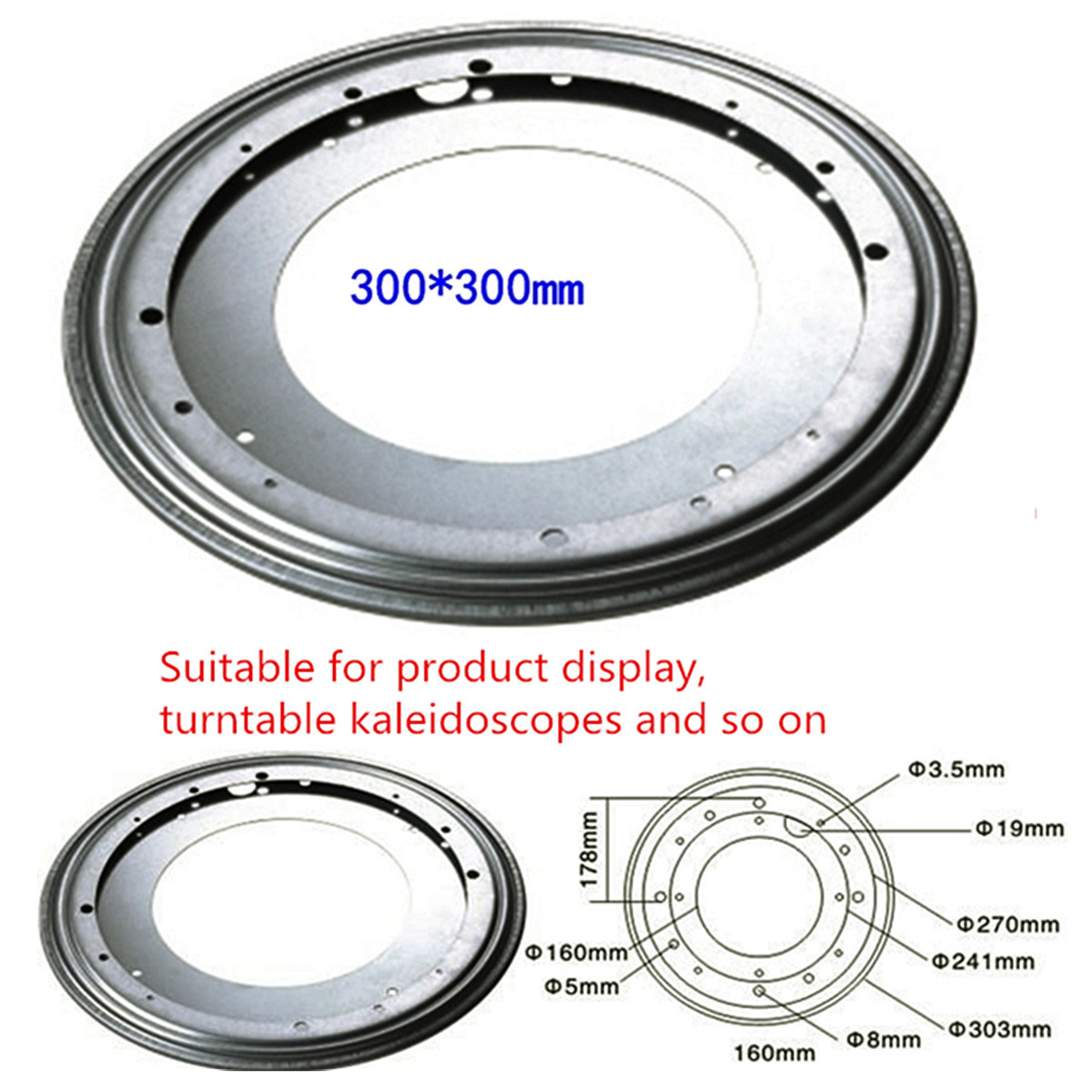 Heavy   Metal 3 SIze Bearing Rotating Swivel-Turntable Plate For TV Rack Desk Table Smoothly Square/Round For Corner Cabinets