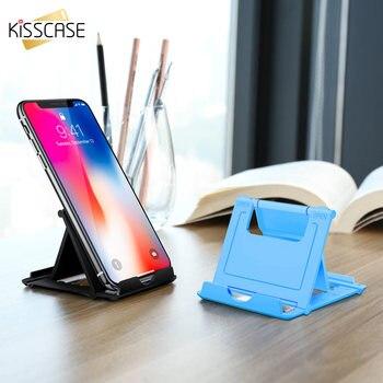 KISSCASE soporte ajustable para teléfono móvil para iPhone soporte de escritorio plegable Universal para Smartphone Xiaomi