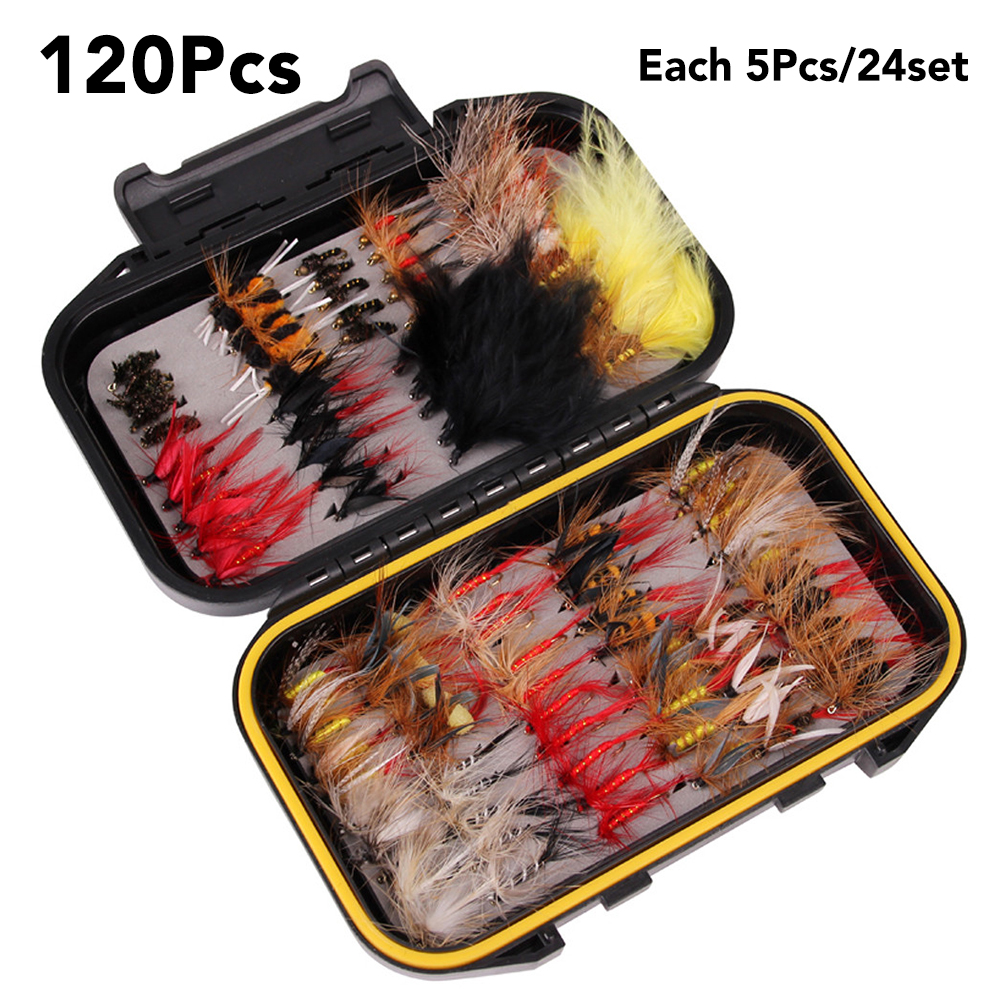 Great selection for Fly Fishing Early Season Trout Fishing flies 120 in 2 Boxes