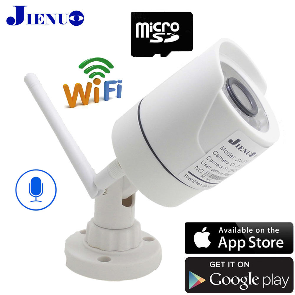 1080P 960P 720P CCTV Ip Cameras Wifi Infrared Bullet waterproo Home Wireless Surveillance video Security ipcam Audio H 264 JIENU in Surveillance Cameras from Security Protection