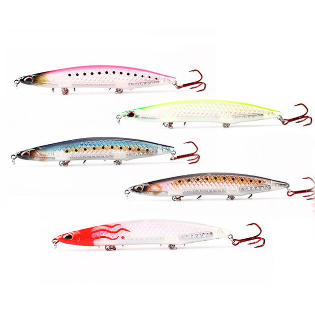 Kingdom 2019 New 3D Laser Sea Pencil Fishing Lures 100mm 125mm High Quality Floating & Slow sinking Fishing Wobblers Hard Baits 4