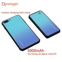 OYINXINGER 5000mAh High Capacity Portable Power Bank Cases For Samsung Galaxy S8 Plus Note 8 Note 9 S8Plus Magnetic Back Clamp