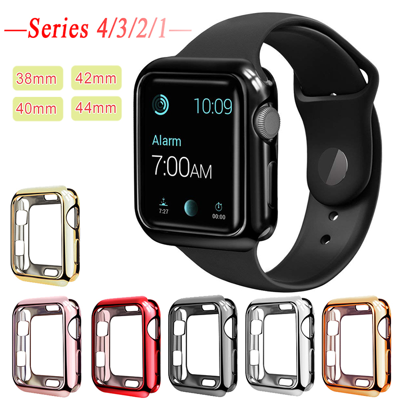 Plating Frame Protective Case Shell for Apple Watch Series