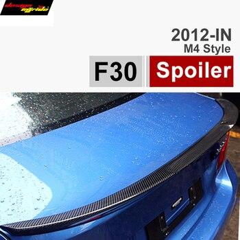 F30 후면 트렁크 스포일러 자동차 날개 AEM4 스타일 탄소 섬유 3 시리즈 F30 318d 320i 320d 325d 328i 330d 335i 335d f80 M3 2012-