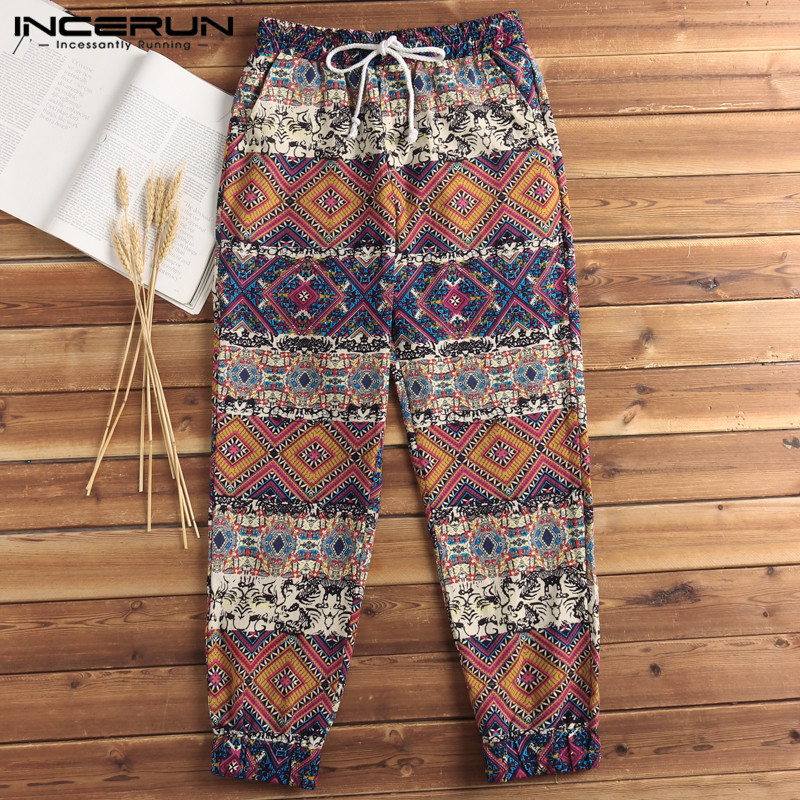 7bffe12522ae Brand Boho Trousers Hiphop Beach Hawaiian Mens Pants Harem Baggy Loose  Fitness Sweatpants Elast Waist Casual Men Clothes Hombre