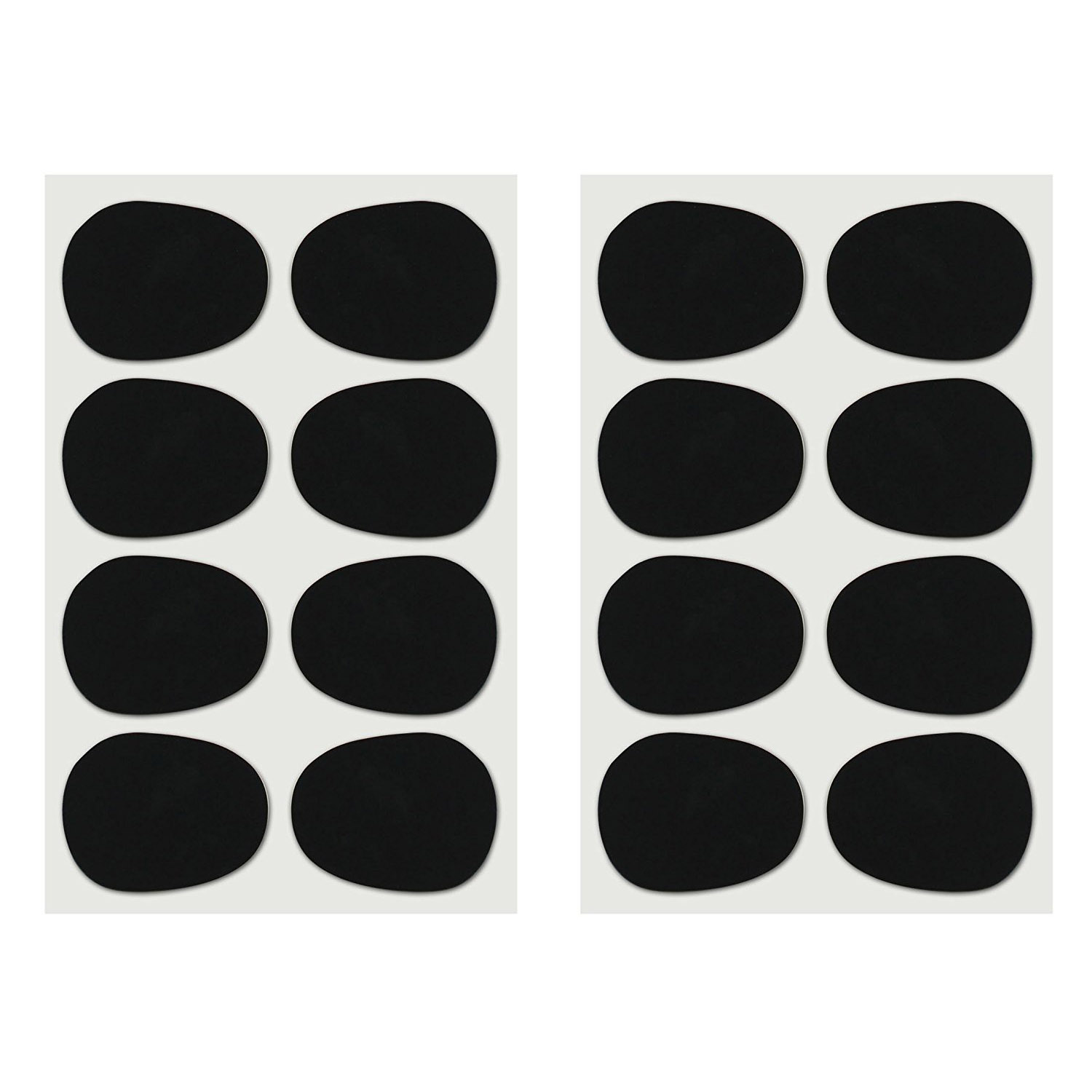 16pcs Alto/tenor Sax Clarinet Mouthpiece Patches Pads Cushions, 0.8mm Black, 16 Pack