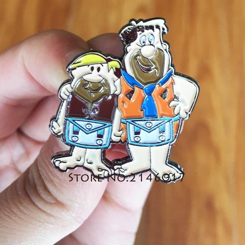 10 Pcs Vrijmetselaar Metalen Badge Gift Us 60 S Flintstones Cartoon Maçonnieke Schort Revers Pin Gratis Metselaars Stoort Pins En Broche Aromatische Smaak