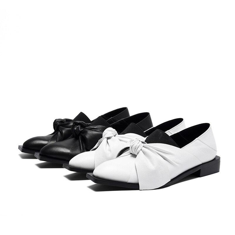 Moraima De Pu Taille Nouveau Arc Simple 2019 Solide Couleur Chaussures Kelly Plates blanc Tête Grande Sac Carrée Snc Noir Femmes k8wO0XnP