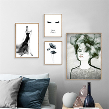 Nordic Water Color Abstract Girl Poster Art Wall Art Canvas Painting Posters And Prints Wall Pictures For Living Room Unframed