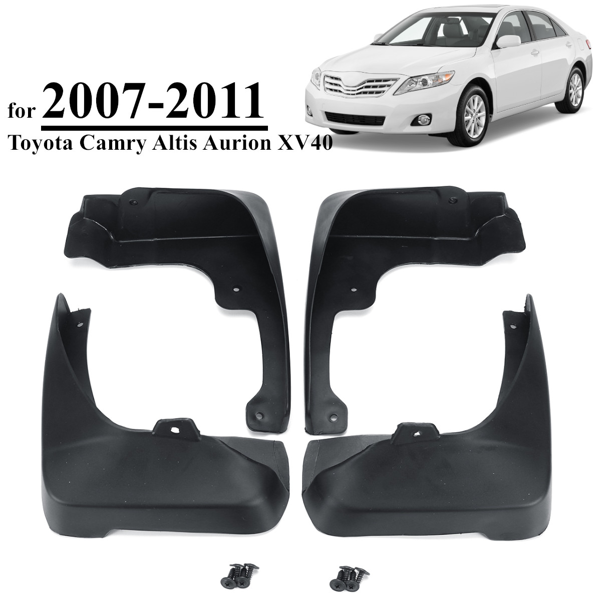 สำหรับ Toyota Camry Altis Aurion XV40 2007-2011 รถโคลน Fender Mudguards Mudflaps Splash Guards