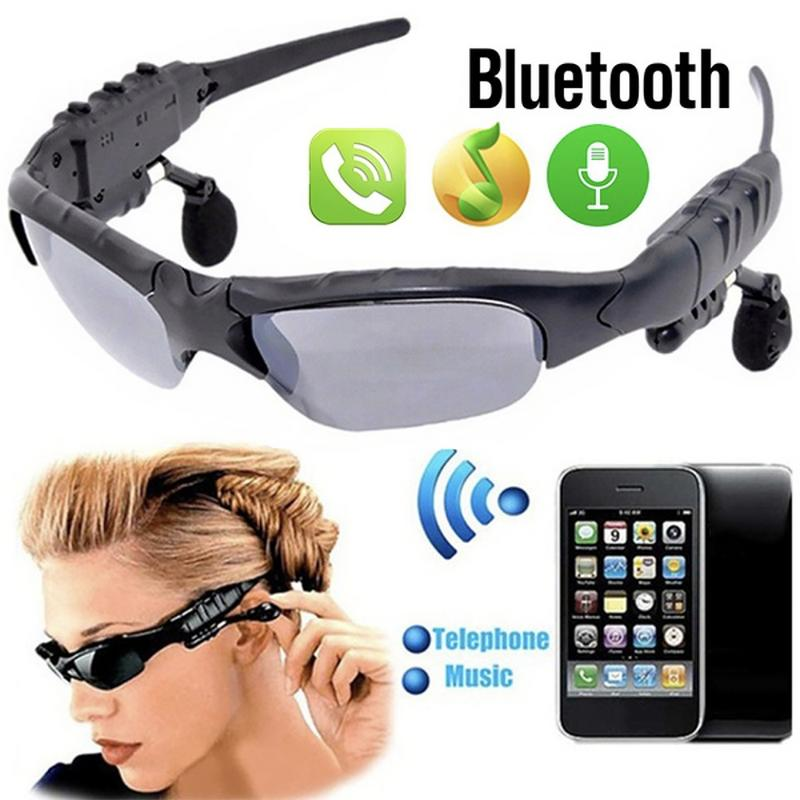 Bluetooth 4 1 Sunglasses Headset Outdoor Glasses Ear Plug Stereo Music Wireless Headset With Microphone For Smartphone in Bluetooth Earphones Headphones from Consumer Electronics