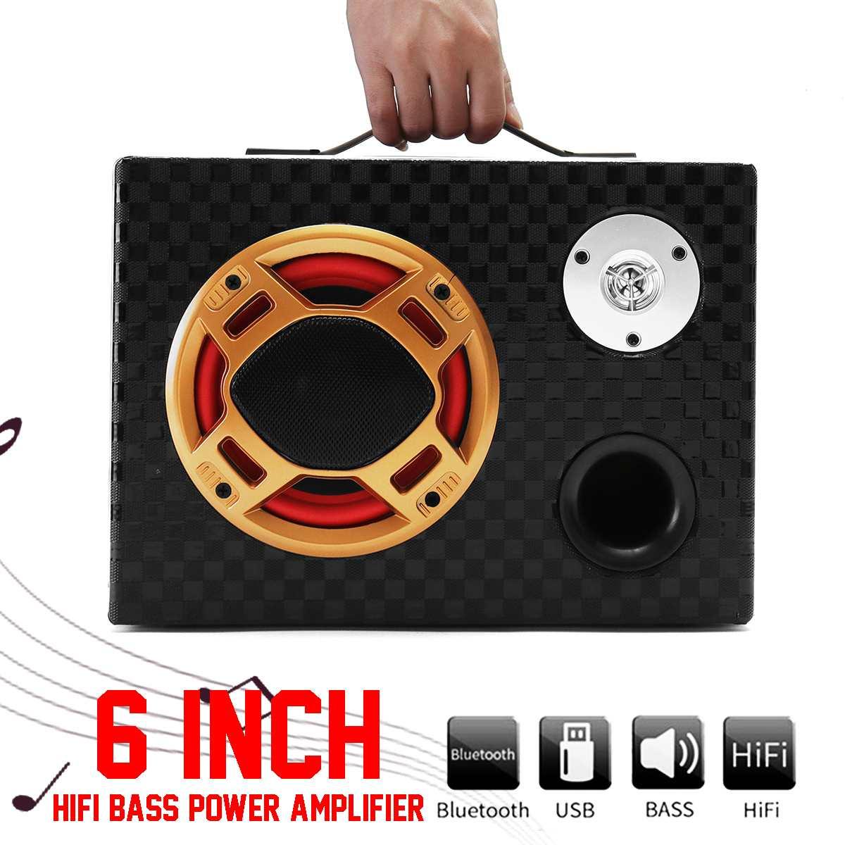 500W 12v/24V 220v 6 Car Hifi Amplifier Speaker Auto Audio Bass Power Bluetooth
