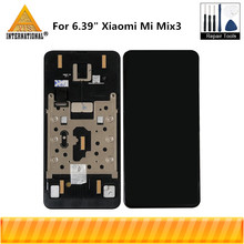 """Oryginalny Axisinterantional super amoled LCD 6.39 """"dla Xiao mi mi mi x 3 mi X3 wyświetlacz LCD ekran z ramą + digitizer panel dotykowy"""