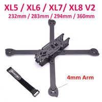 3K Full Carbon Fiber XL5 V2 232mm XL6 V2 283mm XL7 V2 294mm XL8 360mm True X w/ 4mm arm Freestyle Frame for FPV Racing Quad