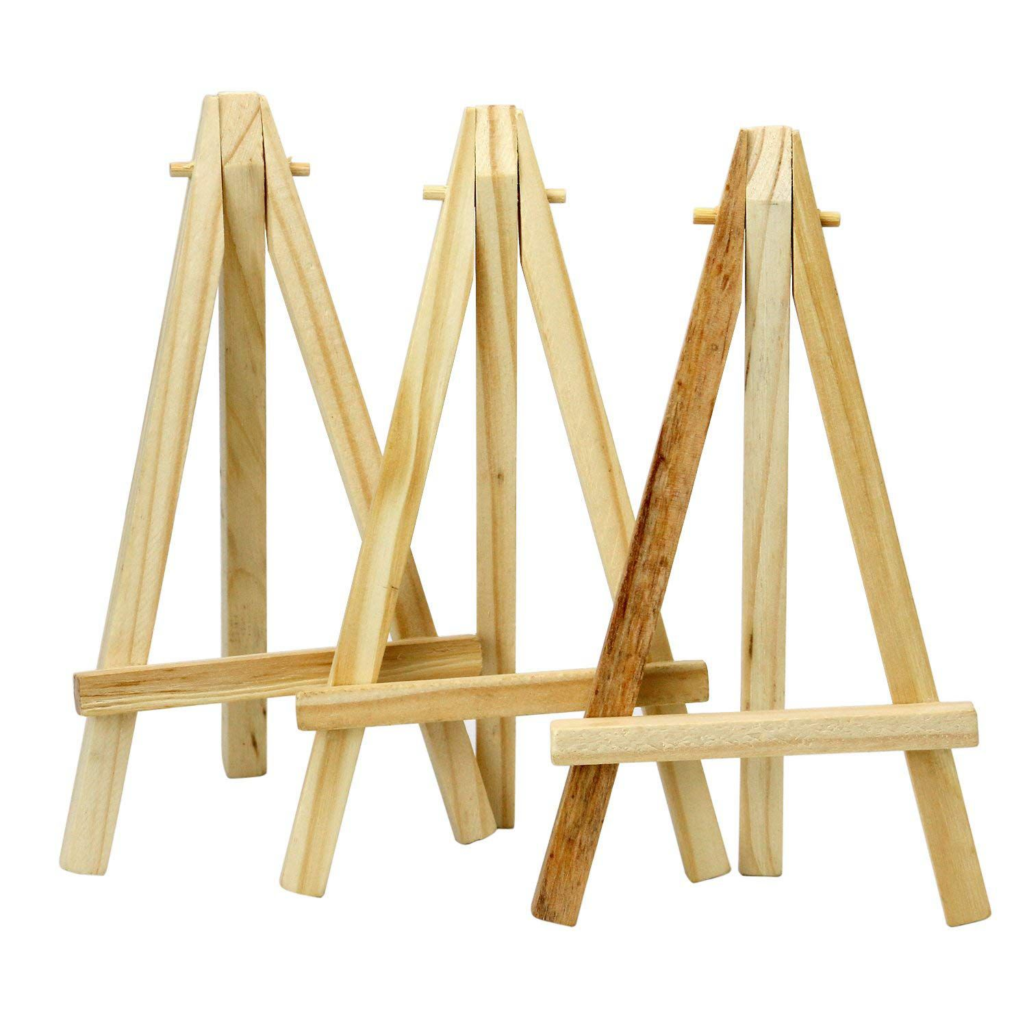 Mini 6 Inch Tall Wooden Easels Artistic Projects Photo Name Menu Holder Table Reservations Festive Xmas Placeholder