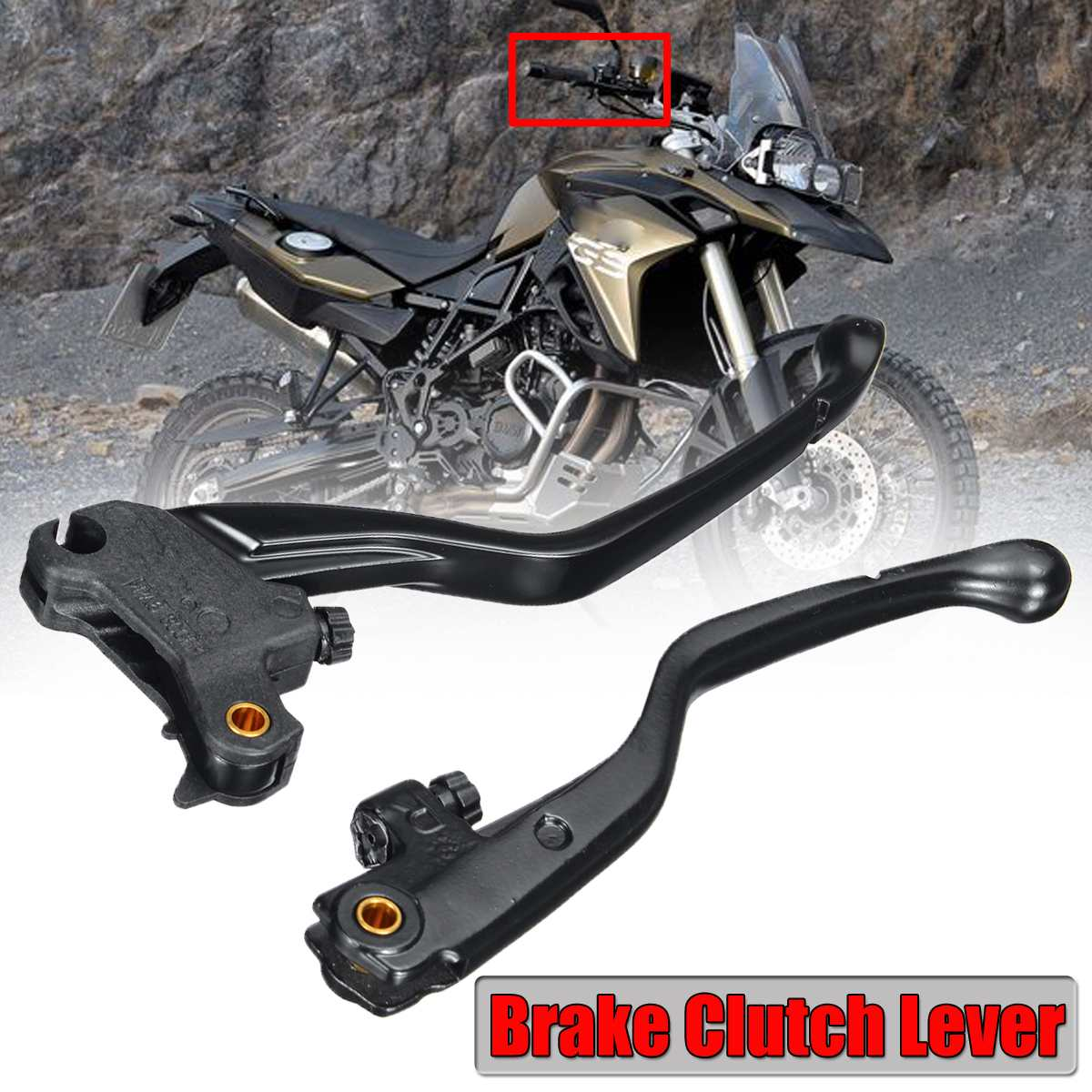 Black Aluminum Brake Clutch Lever For BMW K70 F700GS K71 F800GT K72 F800GS