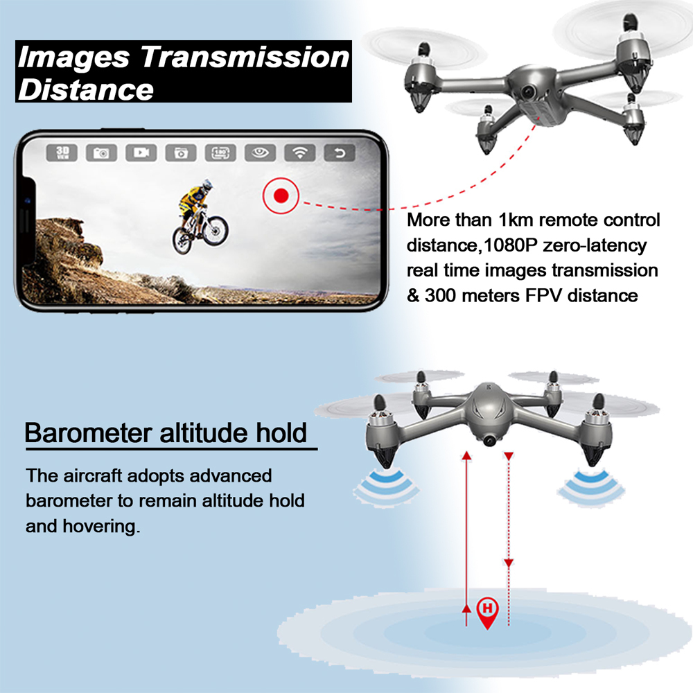 Image 3 - MJX B2SE GPS Brushless Motor RC Drone 1080P HD Camera 5G WiFi FPV Precise GPS Altitude Hold Smart Flight RC Quadcopter VS B5W-in RC Helicopters from Toys & Hobbies