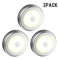 3pcs a pack Induction Led night light Cupboard Lamp Silver/white color 6LED magnetic wall light Aisle luminaria lampada