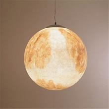 Nordic Moon LED Pendant Lamp Ball Lights Resin Bedroom Living Room Dining Decor Hanging Lighting Kitchen Fixtures