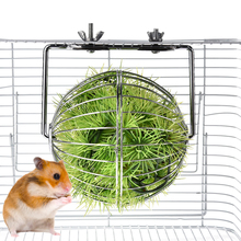 Rabbit Guinea Pig Grass Ball Pet Feeder Multipurpose Hay Hanging Toy Feeding Supplies for Chinchilla