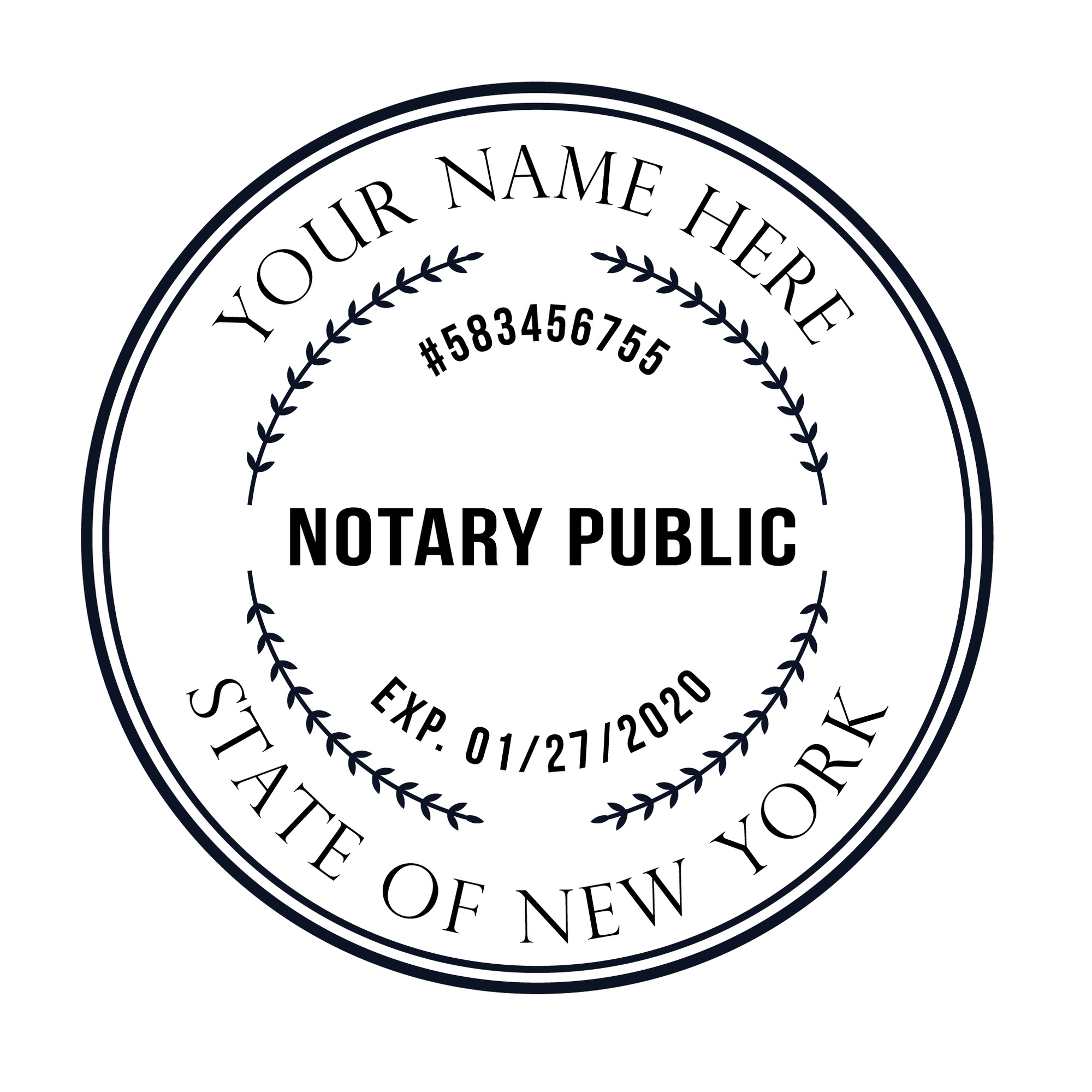 Us 19 95 Bbloop Round Notary Stamp For The State Of New York In Stamps From Home Garden On Aliexpress Com Alibaba Group