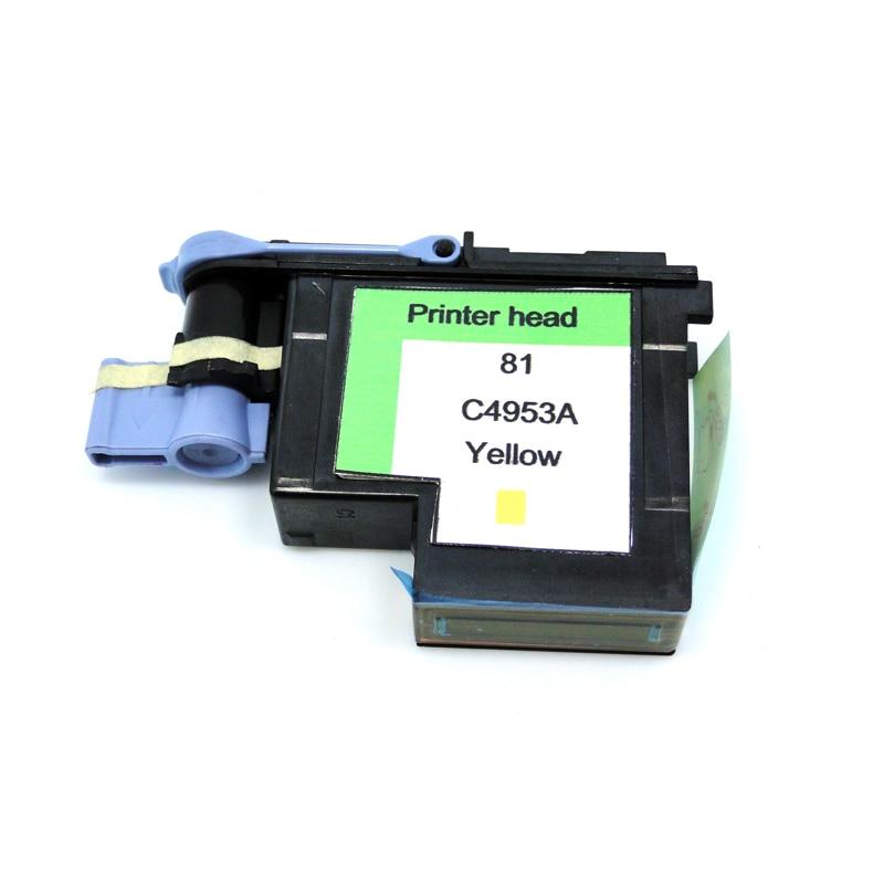 YOTAT 1бр. Ремонтиран C4953A жълт 81 печатаща глава за HP81 Designjet 5000 5000ps 5500 5500ps
