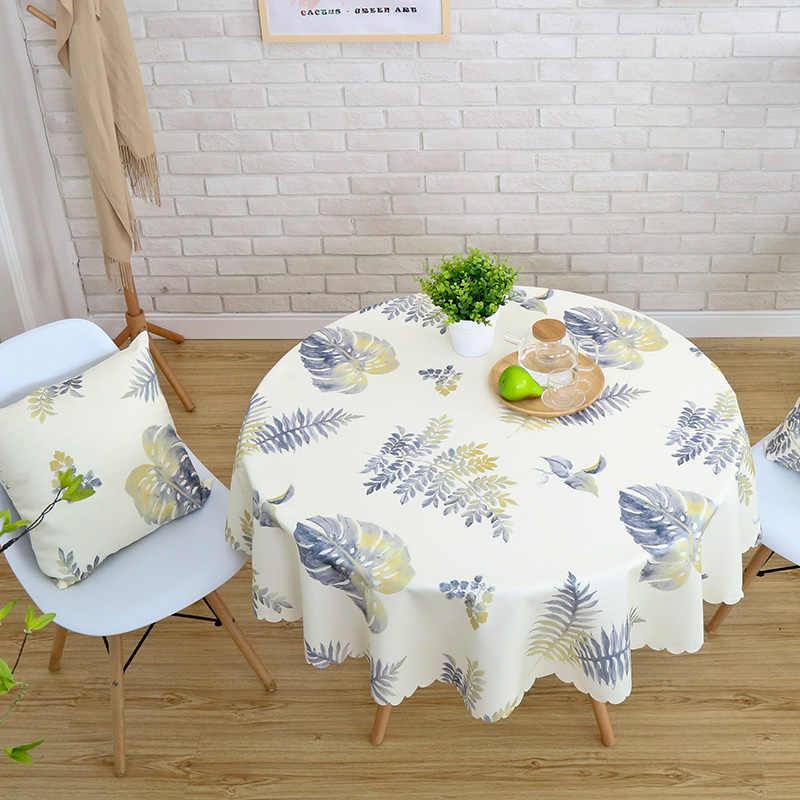 עמיד למים מודפס מפת שולחן עגול שולחן כיסוי תה שולחן בד כפרי מלבני כיסוי בד עיצוב הבית