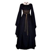 Длинное платье принцессы, костюм на Хэллоуин для женщин, косплей, страшная ведьма, викторианское платье для женщин, карнавальный маскарад, платье для косплея