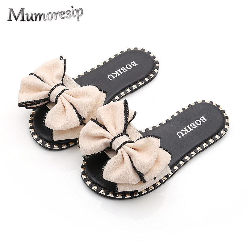 Mumoresip Hot Summer Sandals Slippers For Big Kids Big Girl Sandals Slides With Big Bow-knot Mom-daughter Family Matching ShoesMumoresip Hot Summer Sandals Slippers For Big Kids Big Girl Sandals Slides With Big Bow-knot Mom-daughter Family Matching Shoes