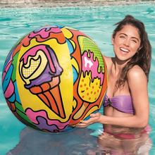 Ice Cream Pattern Inflatable Beach Ball Water Balloons Volle