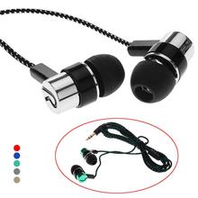 Bass Stereo In-Ear Earphone Wired Headphone Earbud Metal Headset for Phone PC