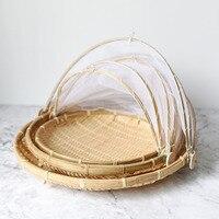 JX LCLYL 3pcs/set Wooden Garden Basket Bamboo Garden Trug Fruit Vegetables Basket 30/35/40cm For Sussex