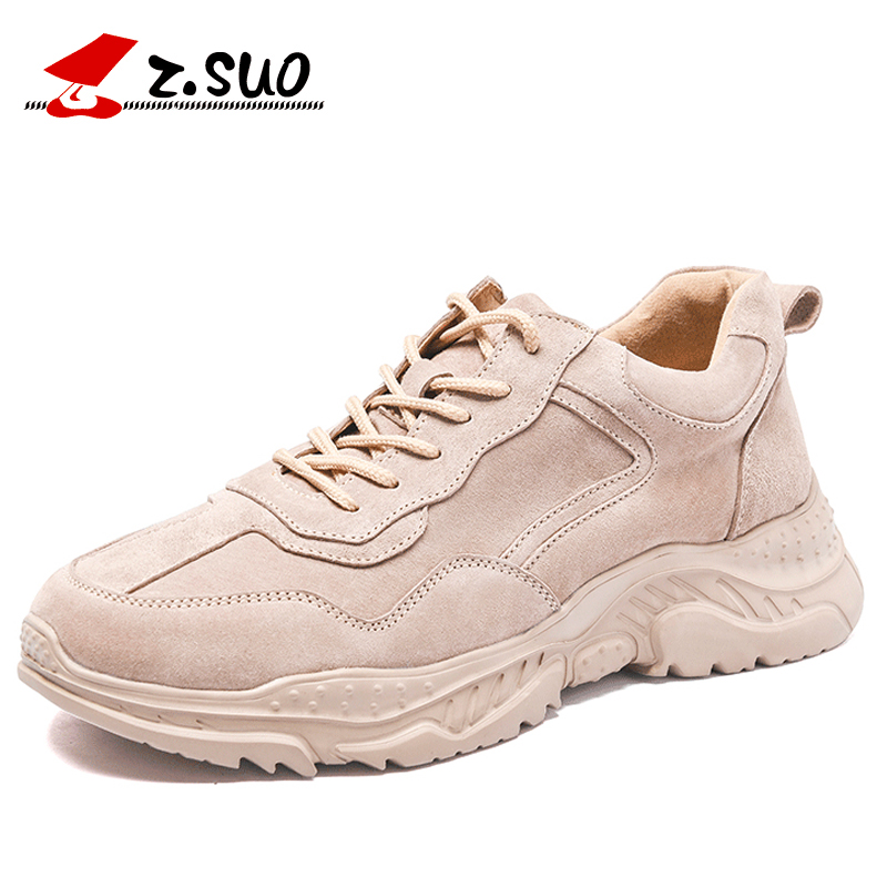 ZSUO moda niskie buty sportowe dla mężczyzn Lace Up wysokiej jakości zamszu skóry letnie męskie buty w stylu casual wysokość zwiększenie buty mężczyźni w Męskie nieformalne buty od Buty na  Grupa 1