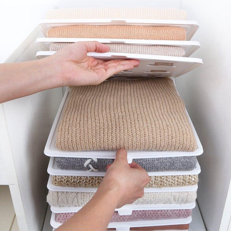 10 pièces rapide vêtements plier conseil vêtements organisation système chemise dossier voyage placard tiroir pile ménage placard organisateur