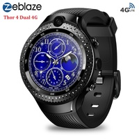 Zeblaze THOR 4 Dual 4G Smart Watch AMOLED Display 1G+16G Phone Smartwatches Android 7.1 5MP Camera GPS WiFi for Android iOS