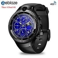 Zeblaze Thor 4 двойной 4G Смарт часы AMOLED Дисплей 1G + 16G умные часы с телефоном Android 7,1 5MP камера GPS WIFI для iOS и Android