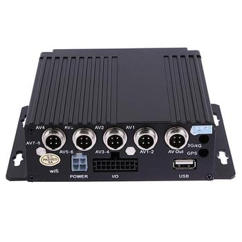 SW-0001A SD Remote HD 4CH DVR Realtime Video Recorder for Car Bus RV Mobile Supporting infrared remote control video recorder