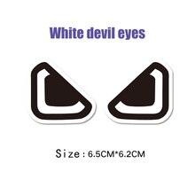 KODASKIN Motorcycle Epoxy Resin White Cartoon 3D Devils Eye Sticker Decal Carbon for NIU N1 N1S M1 U1 M+