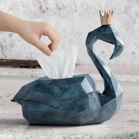 tissue box holder home decor storage box cover organizer luxury wedding resin Flamingo figurine for tabletop animal statue gift