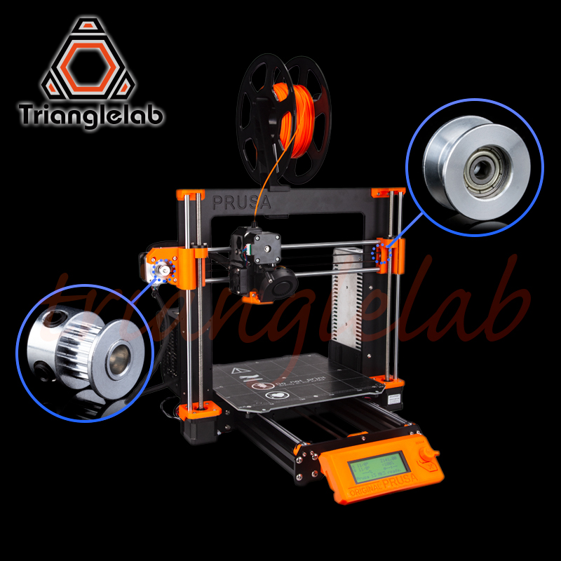 trianglelab GT2-16 pulley bearing housing idle pulley set for Original  Prusa i3 MK2 5/S MK3/MK3S kit Synchronous wheel