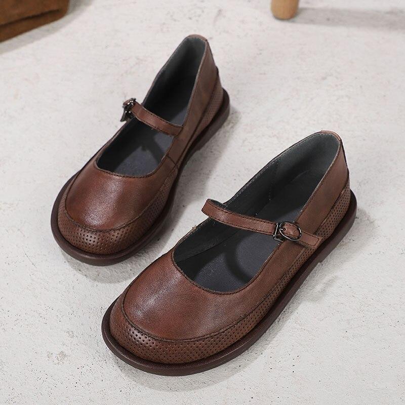 Chaussures 20 Espadrilles Gris Véritable Slipona Ballet D'été Talons Appartements Mary De Cuir Printemps Mocassins En Femmes coffee Bas Jane EawqtRv