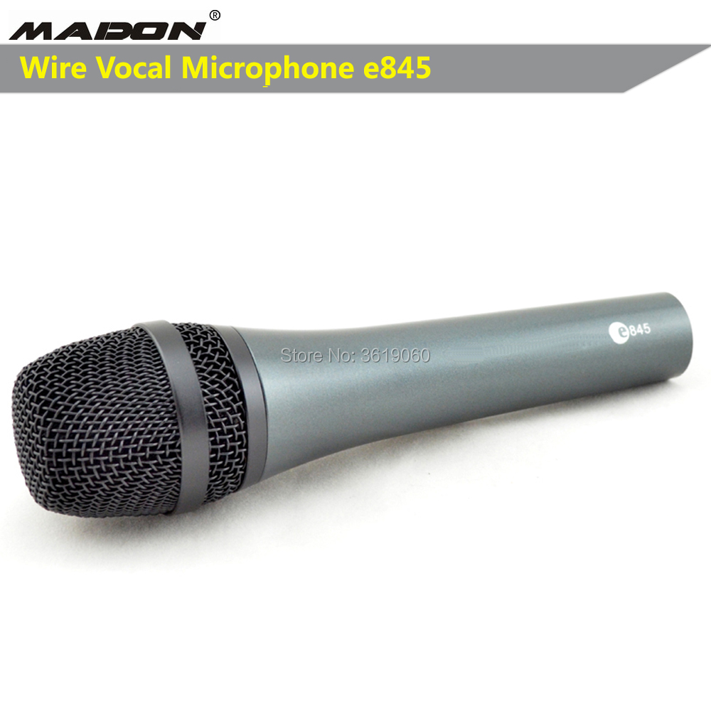 Профессиональный проводной кардиомикрофон e845, проводной динамический кардиомикрофон e845, голосовой микрофон sennheisertype