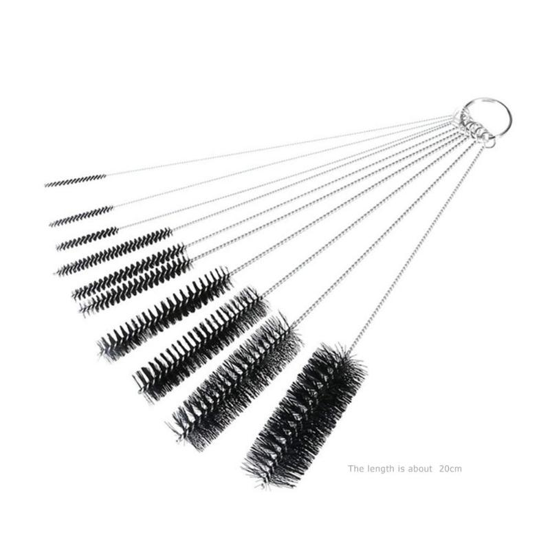 10pcs Coffee Machine Cleaning Brushes Stainless Steel ...