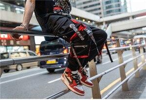 Image 4 - 2019 Dropshipping Big Pocket Ribbon Workwear Pants Brand Design Harajuku Harem Pants High Quality Cargo Tactical Pants