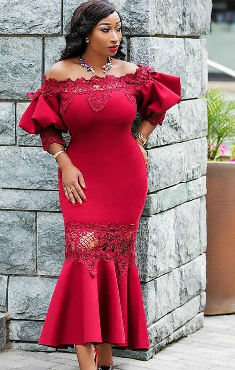 2019 New Elegent Style African Women Plus Size Long Dress