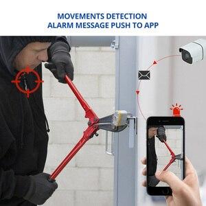 Image 5 - Wheezan Wifi Kamera CCTV sistemi 4MP H.265 Ev güvenlik 4CH P2P kablosuz açık Iki yönlü Ses IP kamera gözetim Kiti
