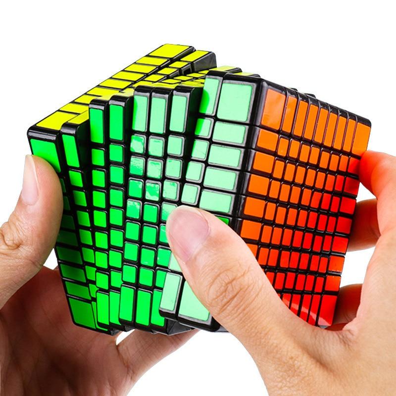 Mo Yu MF9 9x9x9 Cube 9 couches magique vitesse Cube Puzzle 95*95*95mm noir sans autocollant néo Cubo Magico enfants pour jouets éducatifs