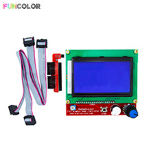 Funcolor LCD Smart Control Motherboard RAMPS1.4 Display Monitor Blue Screen Controller Panel Board Cable for 3D Printers Part