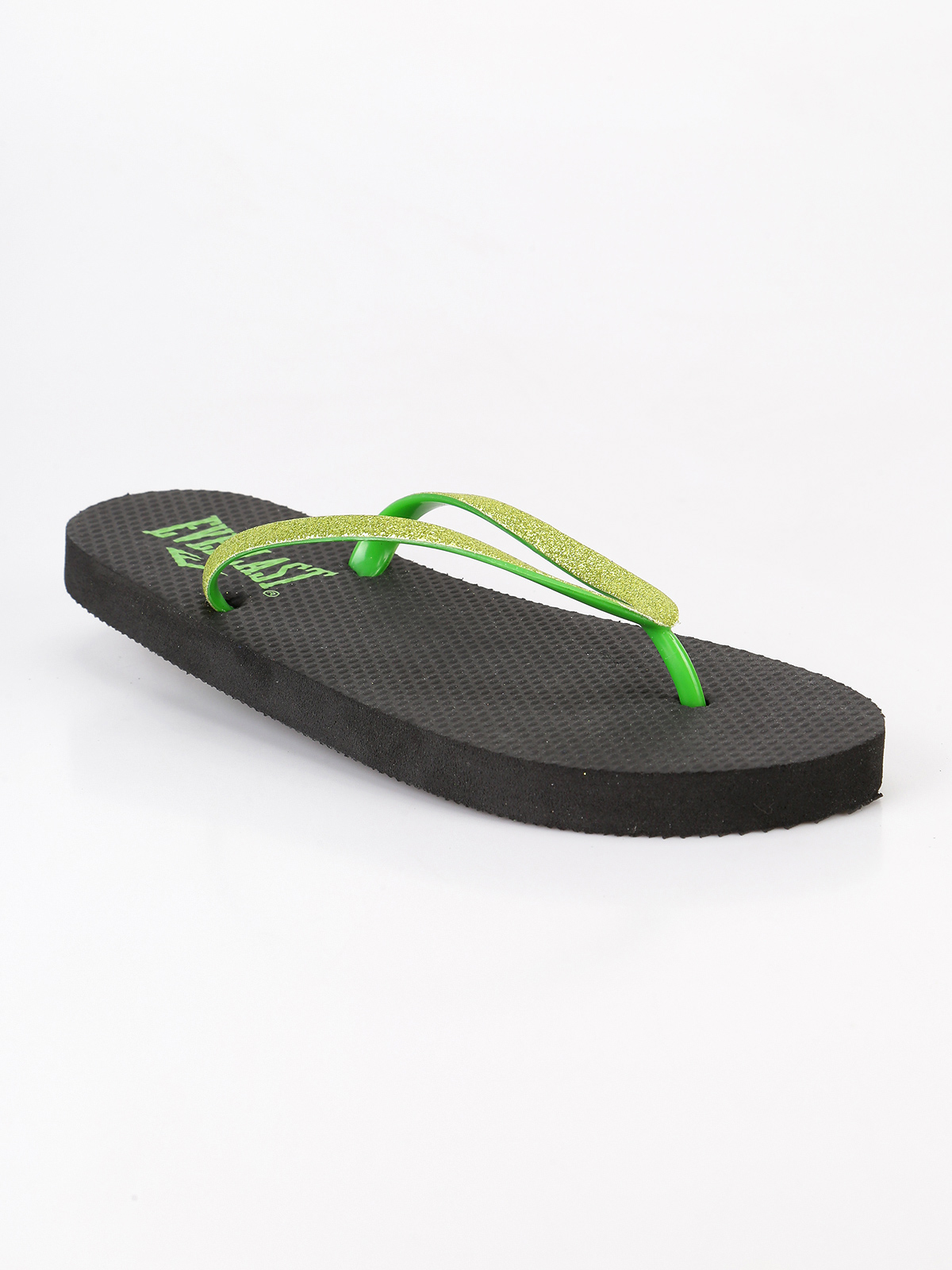 Flip Flops With Glitter Blackgreen-In Slippers From Shoes -1403