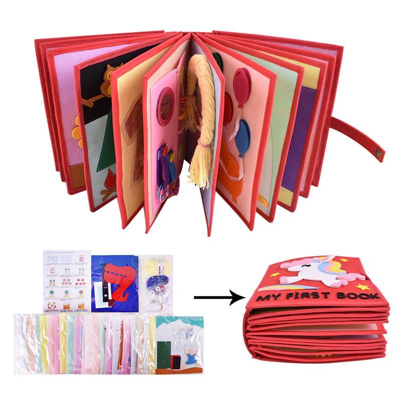 Livre en tissu 3D pour enfants bricolage livre à pansements Non tissé manuel Intelligence Puzzle enfants jouet début de l'éducation développement livre de lecture